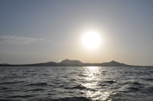 Sunset on Lake Victoria at the Rusinga Island Lodge. #TembeaKenya.