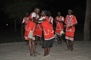 Dancers from the Njemps community entertain guests at the Bogoria SPA and Resort in Baringo County. #TembeaKenya.