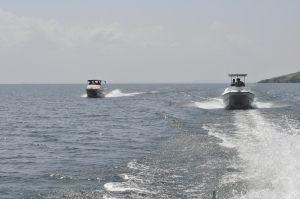 The speed boat experience in Lake Victoria. So scary that it takes courage. #TembeaKenya.