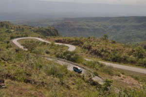 The spiral road in Kabarnet, Baringo County. #TembeaKenya.