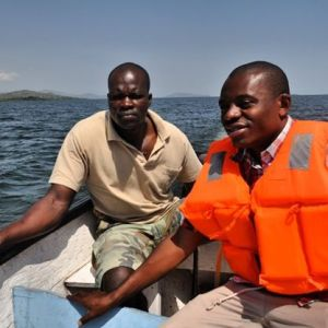 The sailor understands each and every route used by boats in Lake Victoria. #TembeaKenya.