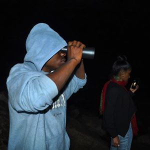 Tried using a binoculars while I was deep inside Kitum Cave in Mt Elgon National Park. #TembeaKenya.