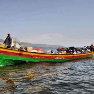 This is the only mode of transportation in Lake Victoria. #TembeaKenya.