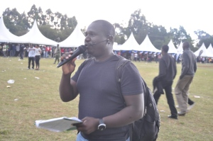 Tom Juma alias TJ was the MC at the #Chebarbar 7s