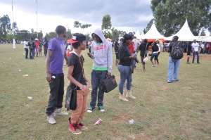 Rugby fans thronged the Eldoret Sports Club for the #Chebarbar 7s